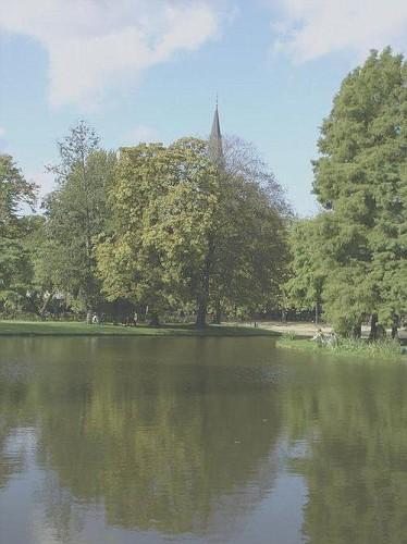 Amsterdam, i Parchi. Vondelpark in Ottobre