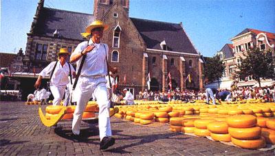 Alkmaar, Il Mercato del Formaggio, i Trasportatori