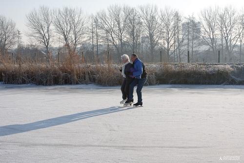Pattini sul ghiaccio in Olanda
