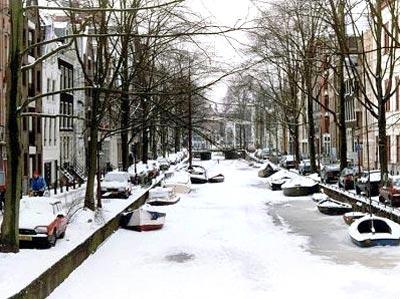 Amsterdam in Inverno, il Viale ghiacciato