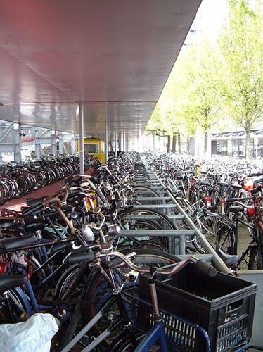 Le Bici di Amsterdam nel Parcheggio