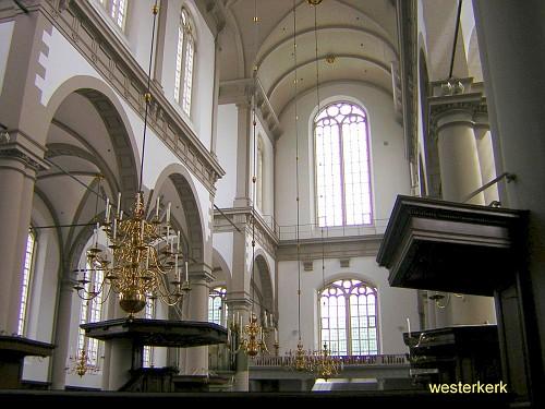 Amsterdam Westerkerk, Interni