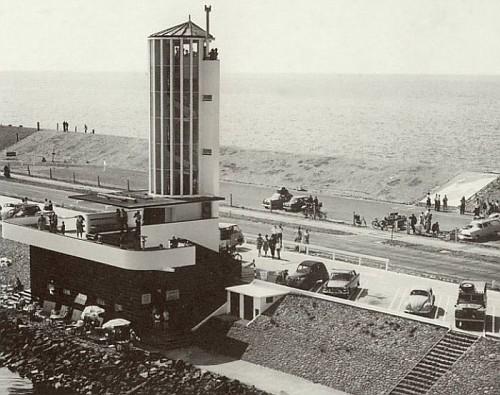 la Diga dell'Afsluitdijk, i primi cantieri