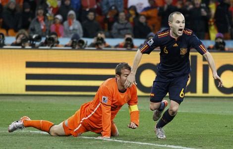 Olanda Spagna Mondiali di Calcio 2010 - Iesta felice per il goal
