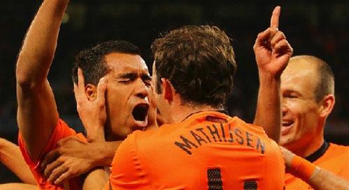 Mondiali 2010 - Olanda - Uruguay,  goal di VAN BRONCKHORST al 18° del primo tempo