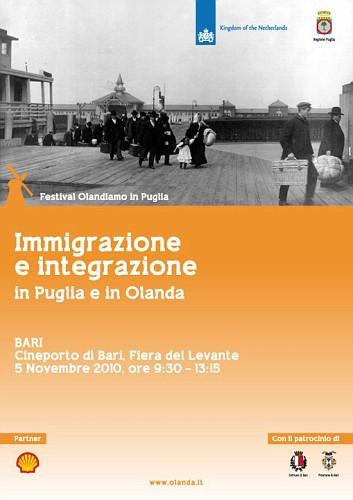 immigrazione e integrazione in puglia e in olanda - 5 Novembre 2010 a Bari - Locandina
